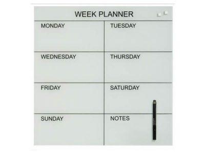 naga week planner 45x45 white